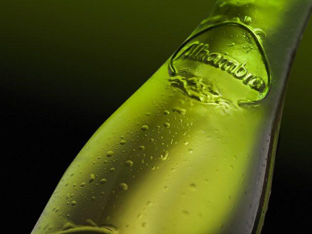 Fotografía bebidas cerveza Alhambra Reserva 1925